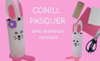 Crea un divertido Conejo de Pascua con materiales reciclados