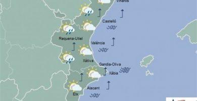 Pluges febles aquest dimecres i màximes en ascens aquest dimecres en la Comunitat Valenciana