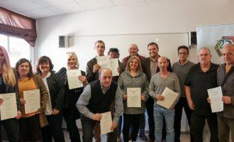 La Fundació Tots Units de Vila-real clausura el seu taller per a persones majors de 45 anys amb 14 diplomats