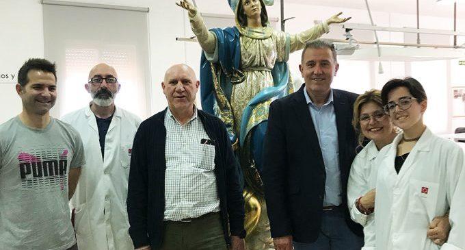 La Diputació conclou la restauració de la Verge de Nostra Senyora de l'Assumpció de Vall d'Uixó