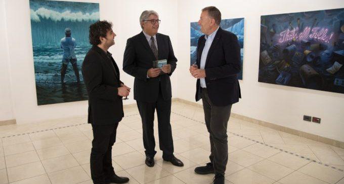 La Diputació acull l'exposició pictòrica 'Apocalipsi' de Santi Tena fins al pròxim 4 de maig