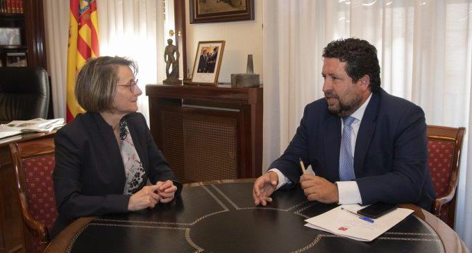 Moliner consolida l'aliança de la Diputació amb l'UJI per a irradiar coneixement i oportunitats de futur a tota la província