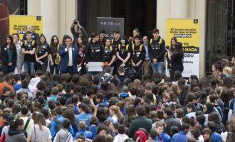 L'acte més gran contra l'assetjament escolar a la província amb més de 1.400 joves castellonencs