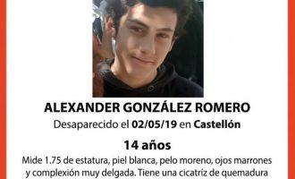 Localitzat el xic de 14 anys desaparegut a Castelló