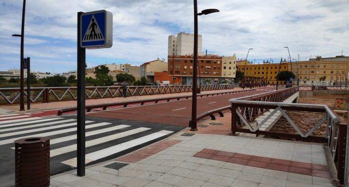 Castelló obri al trànsit el nou pont del riu Sec i culmina el tercer projecte dins de l'estratègia Edusi