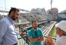 Les obres de remodelació de l'estadi Castalia renoven la graderia i les torres d'il·luminació