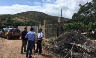 Diputació comença a reparar els danys de les pluges torrencials a Càlig i Santa Magdalena