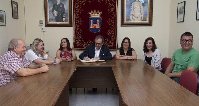 El president de la Diputació visita les obres d'Albocàsser, finançades amb 592.000 euros que provenen de la institució provincial