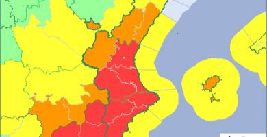 Las rachas de viento han rozado los 40 km/h en algunos puntos de la provincia de Castelló