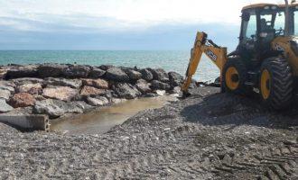 Borriana se prepara ante el próximo aviso de lluvias y temporal marítimo