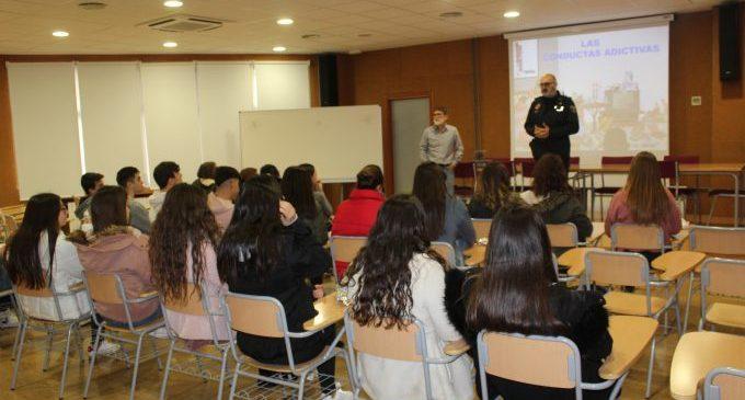 La Policia Local organitza xerrades sobre ludopatia en els centres educatius de Borriana