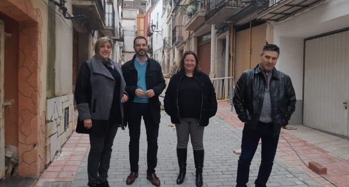 Ximo Huguet visita les obres realitzades amb càrrec al Pla 135