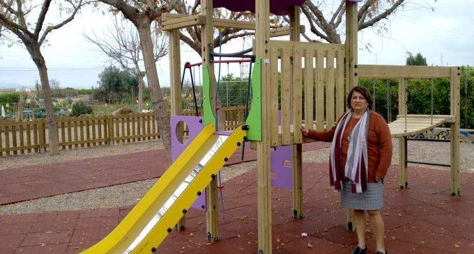 Castelló instal·la nou equipament infantil i biosaludable en quatre parcs