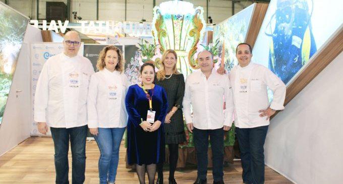 Castelló potència la gastronomia local en Fitur amb un 'showcooking' del 'Arrocito'