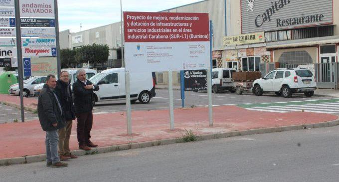 Borriana millora les infraestructures del polígon industrial de Carabona
