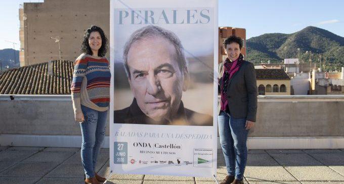José Luis Perales farà un concert a Onda el 27 de juny