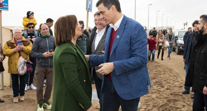Xaro Miralles demana a Pedro Sánchez mesures de protecció de la costa