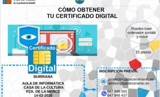 Borriana ofrece formación para obtener el certificado digital