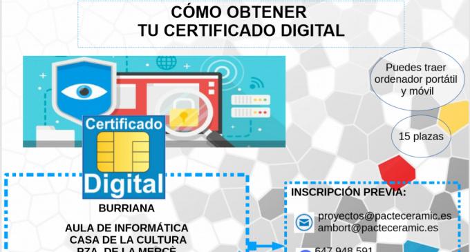 Borriana ofereix formació per a obtenir el certificat digital