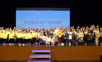 El Ayuntamiento de la Vall d'Uixó reconoce a los deportistas y clubes de la ciudad en la Gala del Deporte