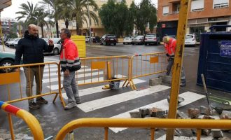 El Ayuntamiento de la Vall d'Uixó realiza obras de accesibilidad en diferentes puntos del municipio