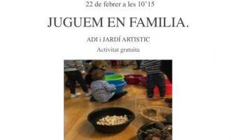 """""""Juguem en família"""" una nueva iniciativa del servicio ADI y el Jardín Artístico de Borriana"""