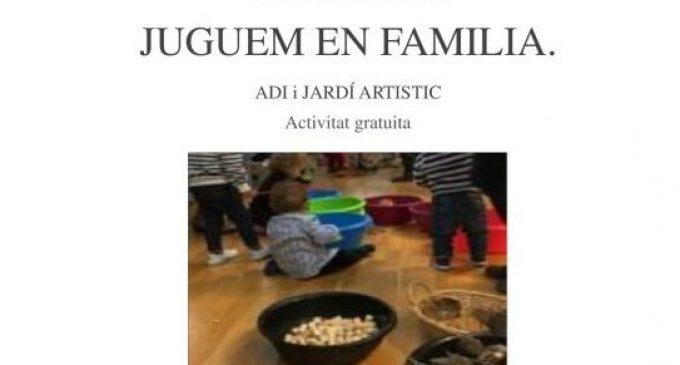 """""""Juguem en família"""" una nova iniciativa del servei ADI i el Jardí Artístic de Borriana"""