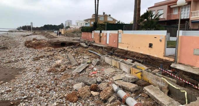Costas destinará 500.000€ para reparar el litoral por el temporal Gloria