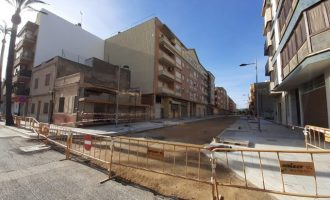La calle València de Benicarló se abrirá al tráfico la semana que viene