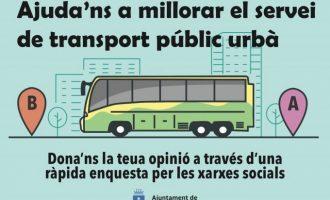 El Ayuntamiento de la Vall d'Uixó pide opinión a la ciudadanía para mejorar el servicio de autobús urbano