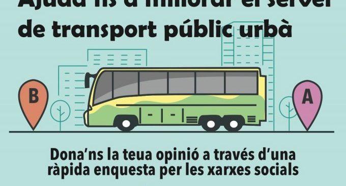 L'Ajuntament de la Vall d'Uixó demana opinió a la ciutadania per a millorar el servei d'autobús urbà