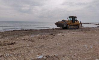 Costes inicia les feines de reparació del litoral de Vinaròs