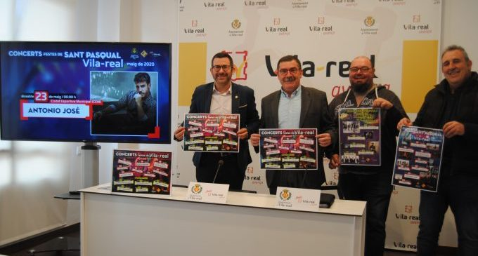 Antonio José, Medina Azahara, La Oreja de Van Gogh i Dani Fernández encapçalen el cartell musical de les festes patronals de 2020