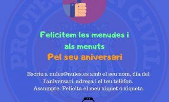 Nules inicia una campanya per a felicitar els més menuts en el seu aniversari