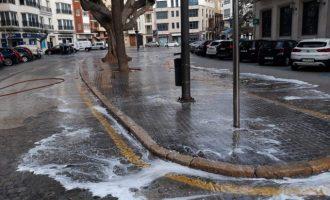 Borriana intensifica les labors de neteja i desinfecció de carrers i mobiliari públic per a combatre la propagació del Covid-19