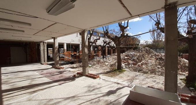 Avanzan las obras de adecuación de la futura sede de la Biblioteca Manel Garcia Grau