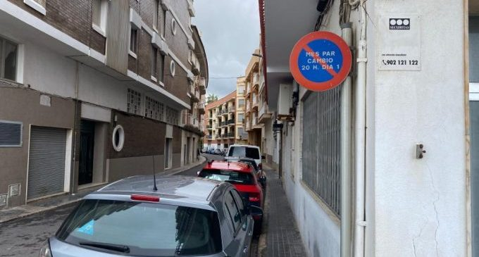 Borriana elimina l'alternança d'aparcament mensual