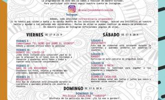 El Casal Jove de Benicàssim continua amb la seua programació de manera virtual