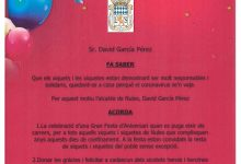 Nules celebrarà una festa d'aniversari per als més menuts quan se supere la pandèmia