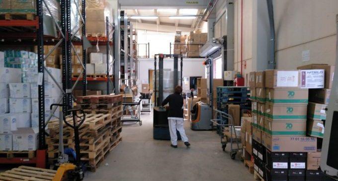 José Martí agraeix la donació de 6 tones de paper higiènic i seca mans realitzat per l'empresa Kartogroup de Borriana