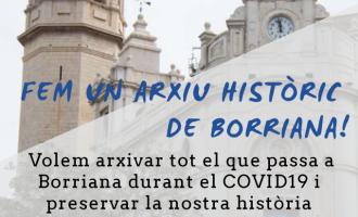 L'Arxiu Municipal de Borriana demana la col·laboració ciutadana per a crear un històric del Covid-19 a la ciutat