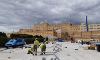 La Generalitat ultima los trabajos para el inicio del montaje del hospital de campaña de Castelló