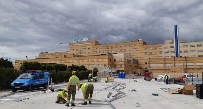 L'hospital de campanya del General de Castelló, llest per a derivació de casos positius