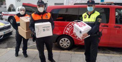 El material de protección de la Diputació llega a la Vall d'Uixó para combatir el coronavirus