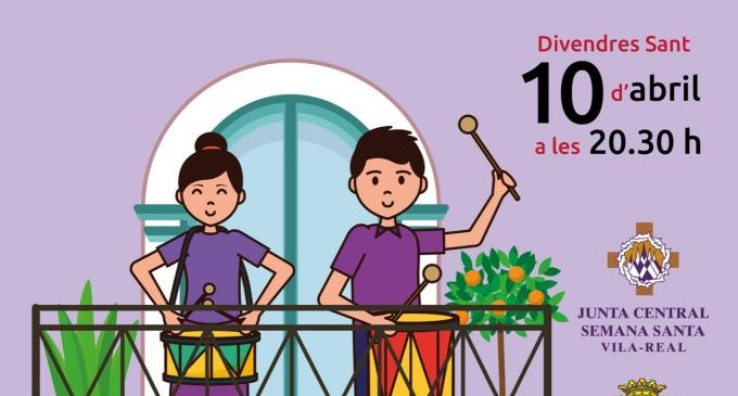 Vila-real celebrarà dues noves tamborades als balcons per a viure la Setmana Santa des de casa després de l'èxit del Diumenge de Rams