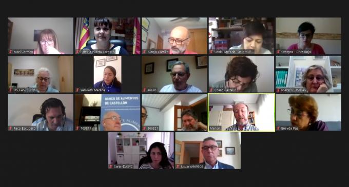 Patricia Puerta es reuneix amb les entitats socials per a fer un seguiment dels efectes de la crisi de la COVID-19 a la província de Castelló