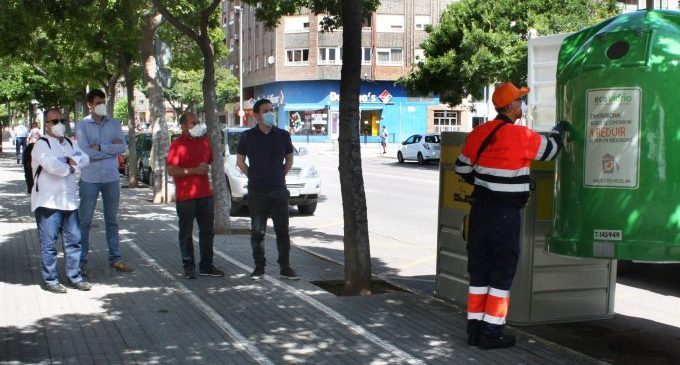 Castelló amplia la xarxa de contenidors de reciclatge de vidre amb facilitats per a l'hostaleria