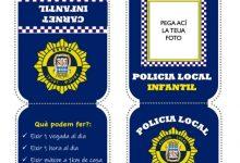 Nules crea un carnet de Policia Local infantil per a conscienciar els xiquets i xiquetes