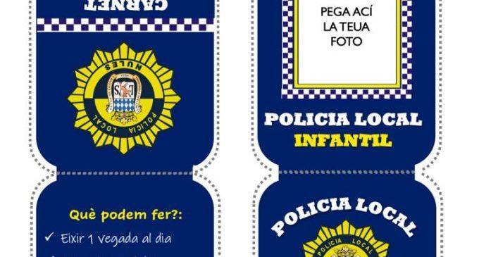 Nules crea un carné de Policía Local Infantil para concienciar a los niños y niñas