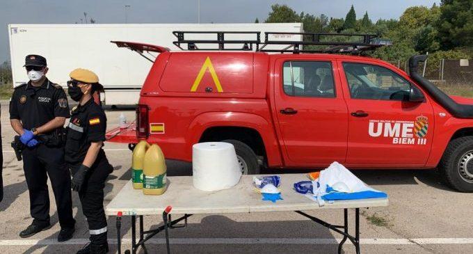 L'UME imparteix un curs de desinfecció a la Policia Local, Protecció Civil i la Brigada Municipal d'Almenara